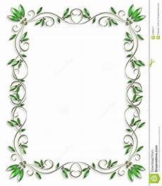 Green Border Design Border Design Element Green 3 Stock Illustration