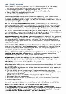 Care Worker Personal Statement Personal Statement Guidelines Amp Proforma