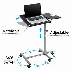 adjustable angle height rolling laptop notebook desk