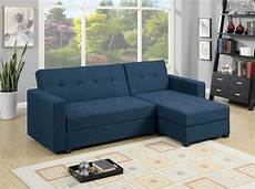 Navy Chaise Sofa 3d Image by F7895 Navy Blue Reversible Chaise Sectional Sofa By Poundex