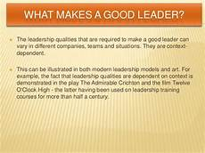 Qualities Of A Good Leader Essay Quality Of A Leader Essay Example