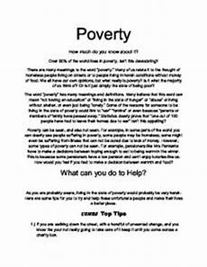 Poverty Essays Research Paper On Poverty College Homework Help And