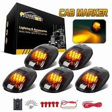 Black Clearance Lights 5 Smoked Black 12 Led Cab Roof Top Marker Running