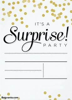 Free Surprise Birthday Party Invitations Free Printable Surprise Birthday Invitations Free