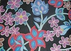 american floral beadwork fabric intricate