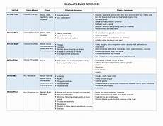 12 Cell Salts Chart Cell Salt Reference Chart
