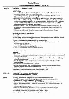 Teacher Assistant Resume Resume Examples For Teacher Assistant Resume Template