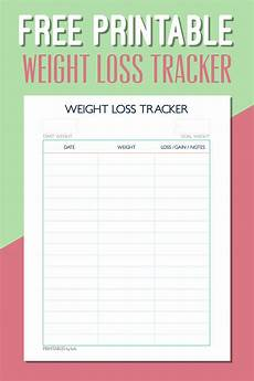 Weight Loss Track Printable Weight Loss Tracker Pdf Printall