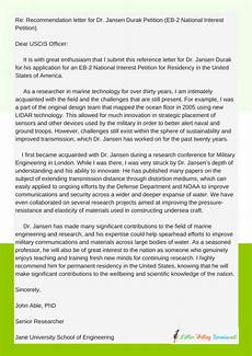How To Write A Recommendation Letter For Green Card Reference Letter For Green Card Application Purpose Eb1