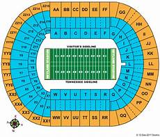 Tennessee Vols Football Seating Chart Neyland Stadium Seating Chart Alabama Football Tickets