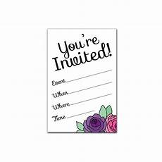 You Re Invited Templates Printable Party Invitation Set You Re Invited Flowers