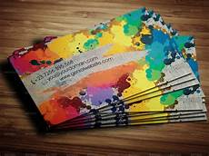 Artist Business Card Graphic Paint Artist Business Card By Nonerazvan