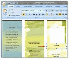 Make A Trifold Brochure In Word Create Brochure In Word 2007 Or 2010 Make Brochure