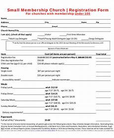 Membership Form Sample Free 50 Registration Forms In Pdf