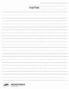 Printable Lined Paper Kindergarten Printable Lined Paper For Kindergarten Free Download