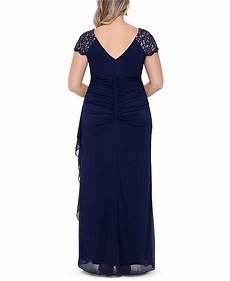 Xscape Plus Size Dresses Size Chart Xscape Plus Size Lace Shoulder Gown Amp Reviews Dresses