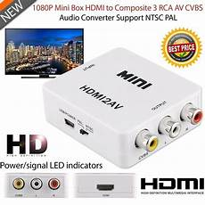 Grwibeou 1080p Hdmi Converter Adapter Composite by Mini 1080p Composite Av Cvbs Adapter Converter Hdmi To Rca