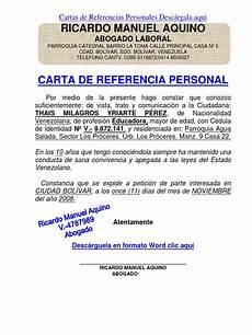 Cartas De Referencias Personal Formato Modelo Ejemplo Carta De Referencia Personal