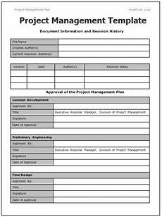 Free Project Management Forms Project Management Templates 4 Printable Word And Pdf