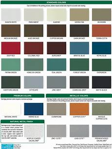Tin Roofing Color Chart Pin On Home Roof