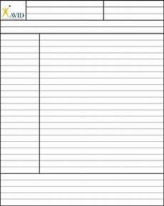Cornell Notes Avid Cornell Notes Template Avid Edit Fill Sign Online