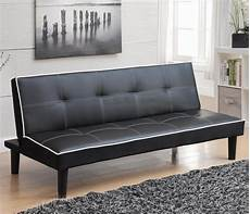 Leather Futon Sofa 3d Image by Black Leather Futon A Sofa Furniture Outlet Los
