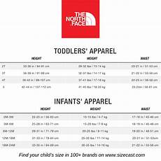 North Face Girls Size Chart The North Face Size Chart Baby Clothes Size Chart Baby
