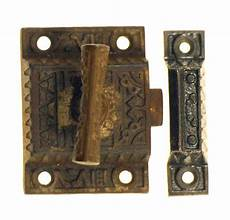 antique cabinet latch with cast iron handle olde things