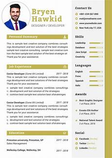 Design Your Cv Modern Design Manager Cv Template Download Resume Templates
