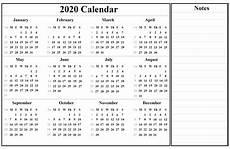 2020 Printable Year Calendar Printable Yearly Calendar 2020 Template With Holidays Pdf