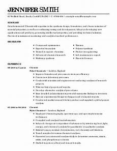 Science Resume Examples Science Resume Examples Science Sample Resumes Livecareer