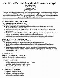 Dental Assistant Objective Examples Dental Resume Examples Amp Writing Tips Resume Companion