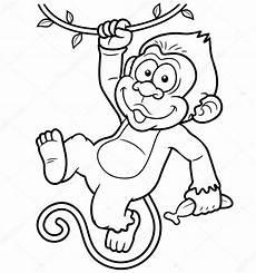 Mono Para Colorear Depositphotos 29089123 Stock Illustration Cartoon Monkeys