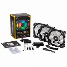Lighting Node Pro How Many Fans Buy Corsair Ml120 Pro Rgb 3 Fan Pack With Lighting Node Pro