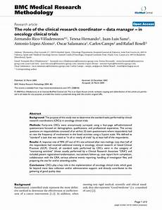 Clinical Research Coordinator Cover Letters Pdf The Role Of The Clinical Research Coordinator Data