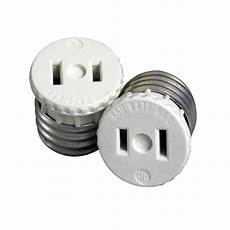 Outdoor Light Bulb Outlet Adapter 660 Watt Lamp Holder To Outlet Adapter White R54 00125