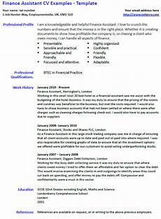 Finance Assistant Cv Sample College Application Essay Workshop Fall 2015 Session Cv