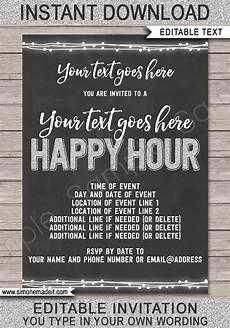 Happy Hour Invite Wording Happy Hour Invite Template Printable Happy Hour Invitation