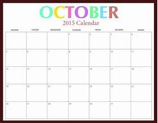 October 2015 Calendar Word Free Download 2015 Calendar 2015 October Printable
