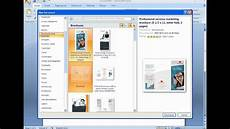 Make A Trifold Brochure In Word How To Create A Brochure With Microsoft Word 2007 Youtube