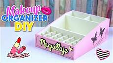 diy maquillaje how to make diy easy and useful makeup organizer made with