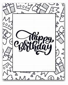 free printable happy birthday coloring sheets titus