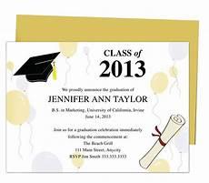 Graduation Announcements Templates Free Printable Diy Templates For Grad Announcements Partytime