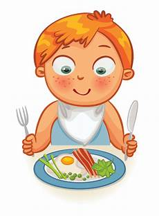 clip kid dinner time time clipart