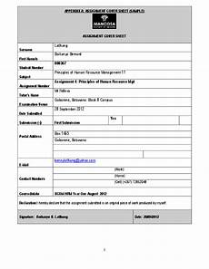 Cover Page For Assignment Free Download Cover Sheet For Assignment Assignment Cover Sheet Week 7