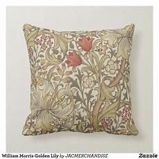 william morris golden throw pillow zazzle in