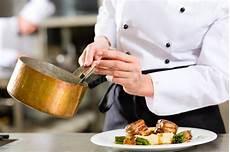 Saucier Chef Chef In Hotel Or Restaurant Kitchen Cooking Stock Photo