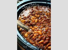 Best Ever Crock Pot Cowboy Beans   Recipe   Cowboy beans