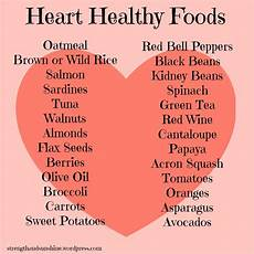 Heart Health Chart What Is In A Heart Healthy Diet Total Gym Workouts