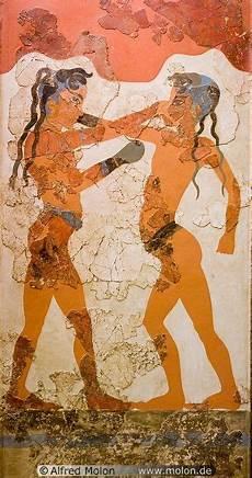 boxing children fresco minoan culture minoan